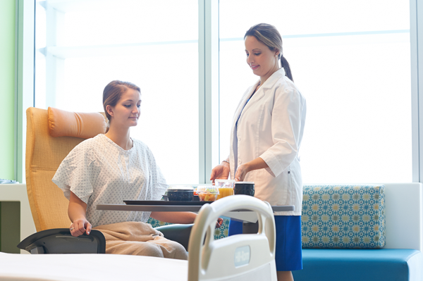 Patients can enjoy restaurant style food service in Morrison Client Hospitals