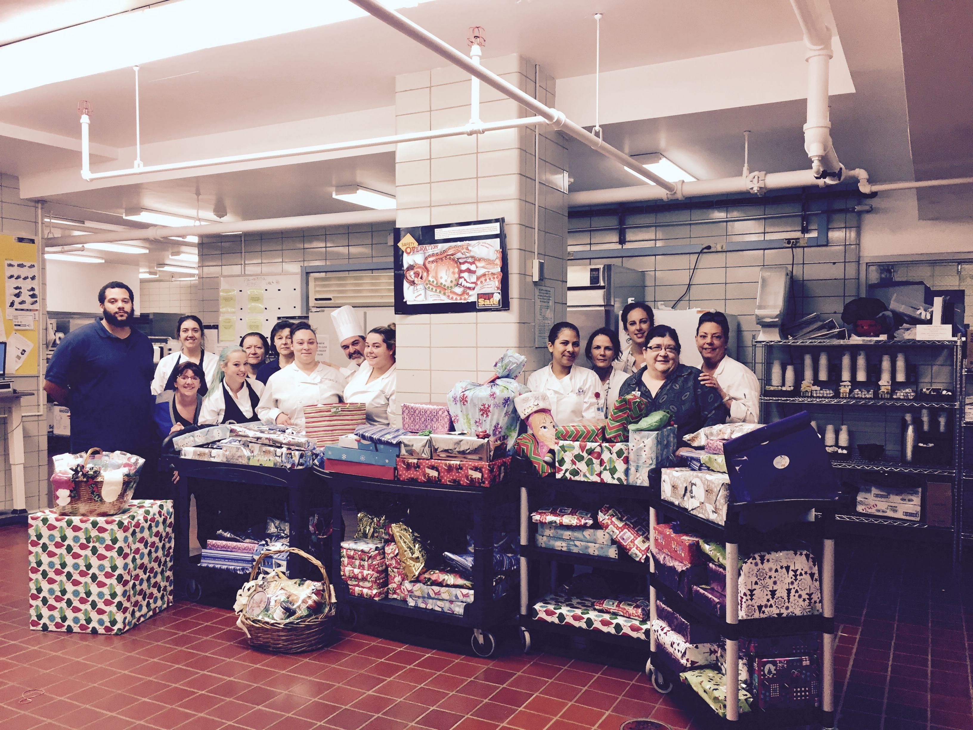 Waterbury Hospital Food & Nutrition Services Team Provided Gifts for a Single Mom and her Four Children This Holiday Season