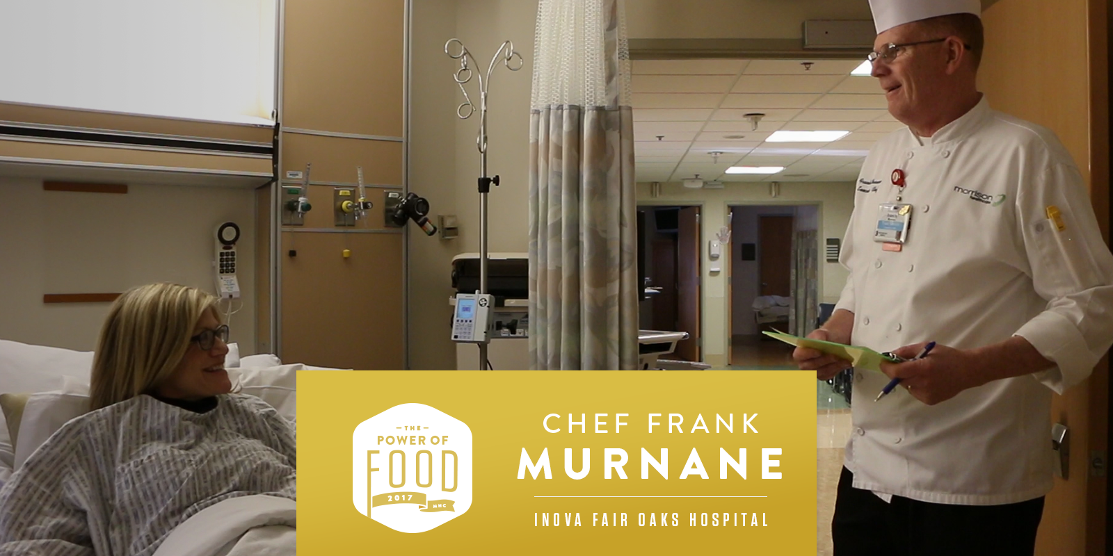 Chef Murnane with Inova Fair Oaks Hospital and MHC