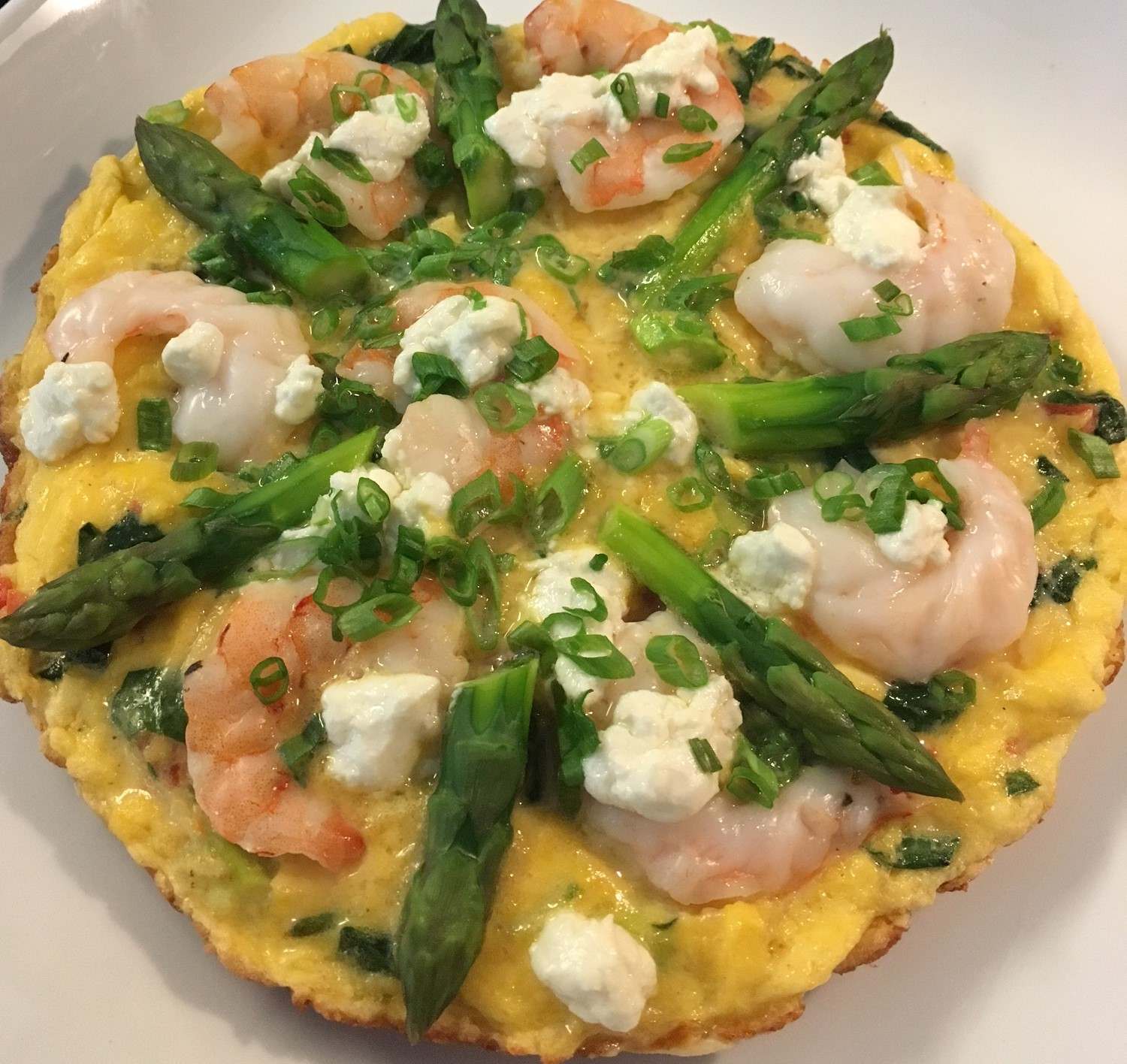 A serious Shrimp Frittata from Chef Braldey Czajka, Systems Executive Chef with Children's Healthcare of Atlanta & MHC. This dish will fit in your New Year's Diet!